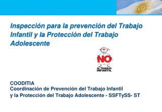 Inspección para la  prevención  del Trabajo Infantil y la  Protección  del Trabajo  Adolescente