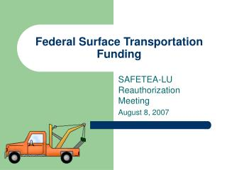 Federal Surface Transportation Funding
