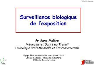 Surveillance biologique de l'exposition