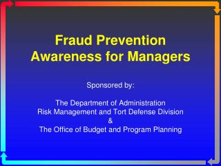 Fraud Prevention Awareness for Managers