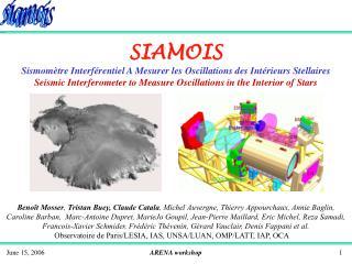 SIAMOIS Sismomètre Interférentiel A Mesurer les Oscillations des Intérieurs Stellaires