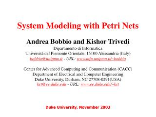System Modeling with Petri Nets