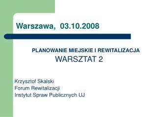 Warszawa,  03.10.2008