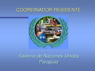 COORDINADOR RESIDENTE Sistema de Naciones Unidas Paraguay