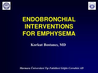 ENDOBRONCHIAL INTERVENTIONS  FOR EMPHYSEMA