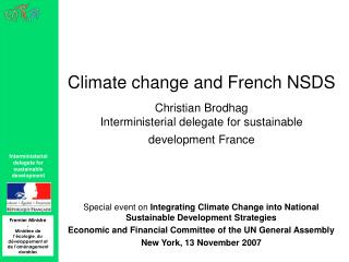 Special event on  Integrating Climate Change into National Sustainable Development Strategies
