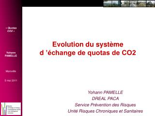 Evolution du syst�me d���change de quotas de CO2