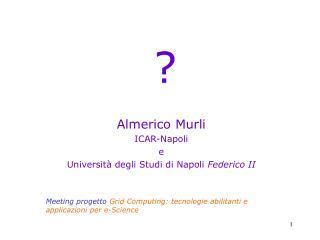Almerico Murli ICAR-Napoli e Università degli Studi di Napoli  Federico II