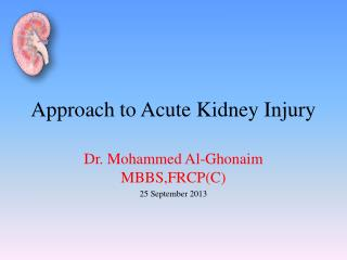 Approach to Acute Kidney Injury