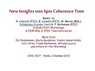New Insights into Spin Coherence Time