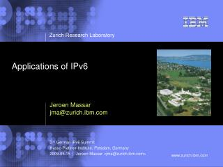 Applications of IPv6