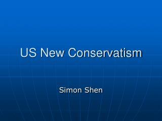 US New Conservatism
