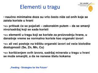 Elementi u tragu