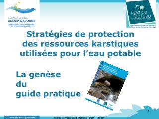Stratégies de protection  des ressources karstiques utilisées pour l'eau potable