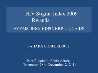AVVAIS, RBC/IHDPC, RRP +, UNAIDS