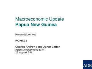 Macroeconomic Update Papua New Guinea