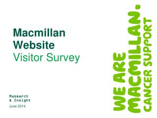 Macmillan  Website  Visitor Survey