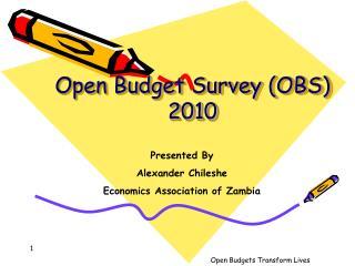 Open Budget Survey OBS 2010