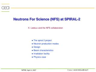 Neutrons For Science (NFS) at SPIRAL-2