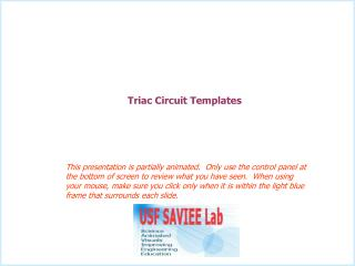 Triac Circuit Templates