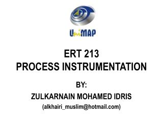 ERT 213 PROCESS INSTRUMENTATION
