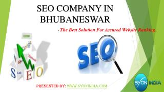SEO Company in Bhubaneswar The Best Solution for Assured W