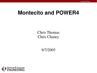 Montecito and POWER4