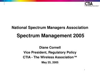 National Spectrum Managers Association Spectrum Management 2005