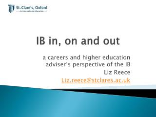IB in, on and out