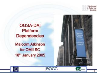 OGSA-DAI Platform Dependencies