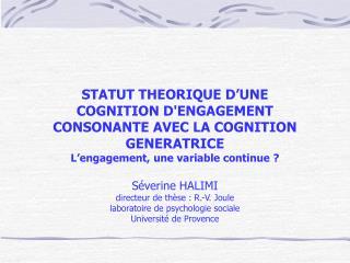 Théorie de la dissonance cognitive (Festinger, 1957)