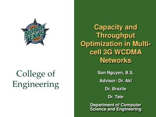 Capacity and Throughput Optimization in Multi-cell 3G WCDMA Networks