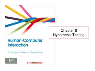 Chapter 6 Hypothesis Testing