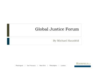 Global Justice Forum