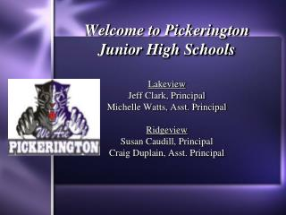 Welcome to Pickerington Junior High Schools