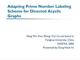 Adapting Prime Number Labeling Scheme for Directed Acyclic Graphs