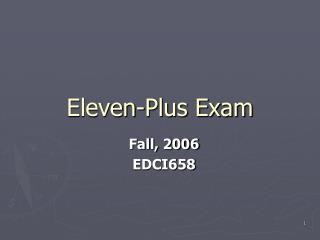 Eleven-Plus Exam