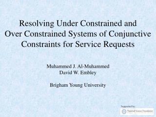 Muhammed J. Al-Muhammed David W. Embley Brigham Young University