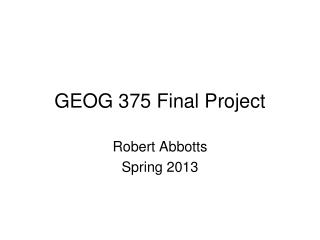 GEOG 375 Final Project
