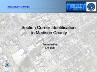 Section Corner Identification  in Madison County