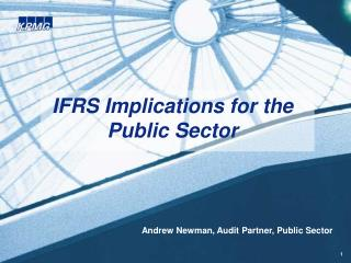 IFRS Implications for the   Public Sector