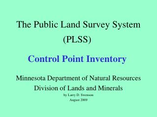 The Public Land Survey System