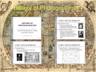 History of Photogrammetry