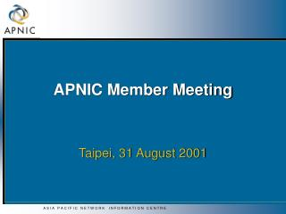 APNIC Member Meeting