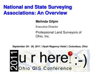 National and State Surveying  Associations: An Overview