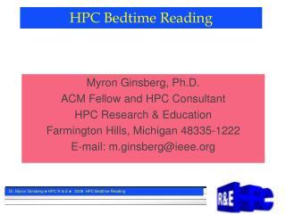 HPC Bedtime Reading
