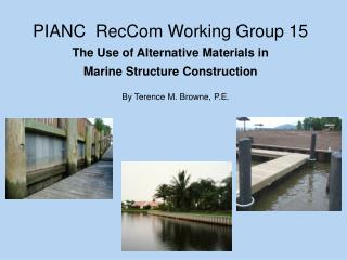PIANC  RecCom Working Group 15