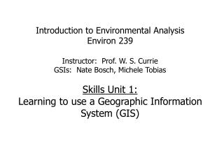 Components of a GIS or GIS analysis