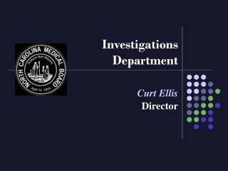 Investigations Department