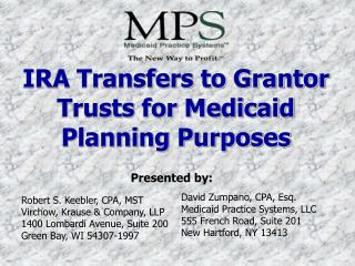 IRA Transfers to Grantor Trusts for Medicaid Planning Purposes